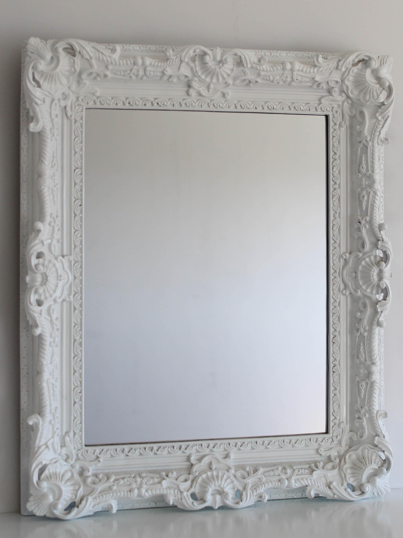 specchio in resina bianco quadrato cis di nola isola 7 n