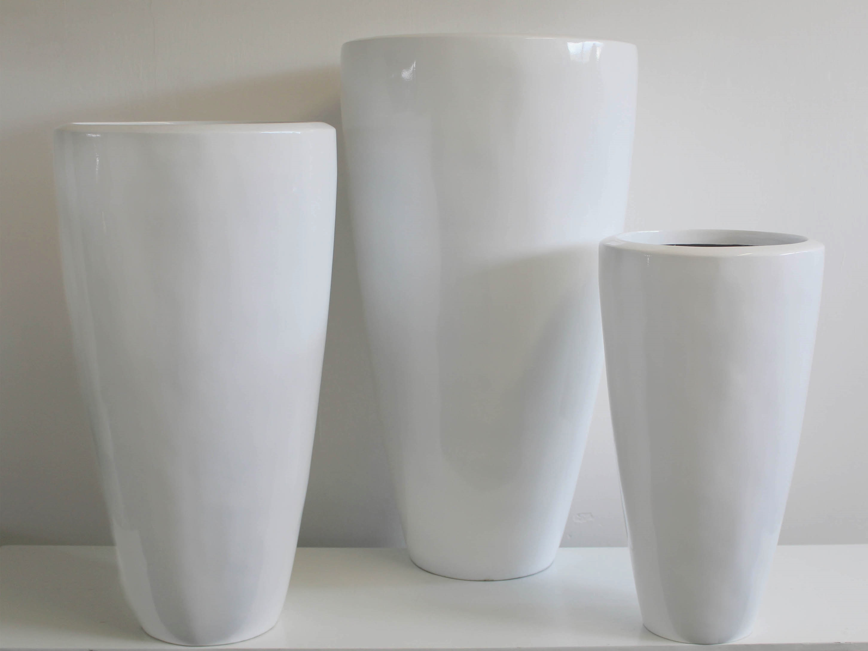 Vasi bianchi alti set 3 pezzi gallo distribuzioni - Vasi da interno alti ...
